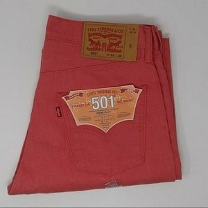 Levi's 501 Button Fly Shrink to Fit Straight Leg